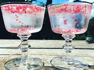 Finger Lime cocktails